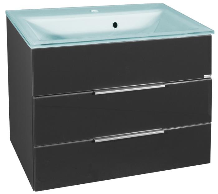 fackelmann kara glasbecken unterschrank anthrazit set. Black Bedroom Furniture Sets. Home Design Ideas
