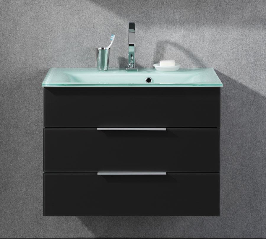 fackelmann kara glasbecken unterschrank anthrazit set badm bel waschtisch ebay. Black Bedroom Furniture Sets. Home Design Ideas